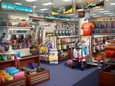 Популярный магазин спортивных товаров