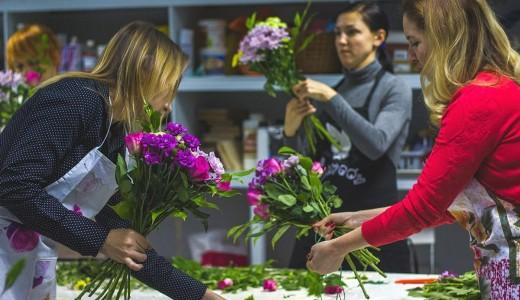 Магазин цветов в центре