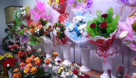 Отдел цветов в торговом центре