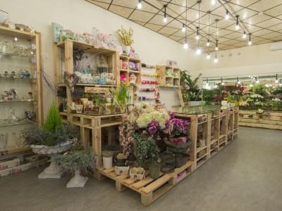 Оборудованный цветочный магазин