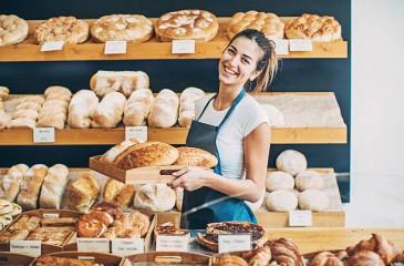 Магазин-пекарня в густонаселенном районе города