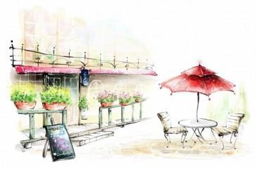 Кафе с летней верандой