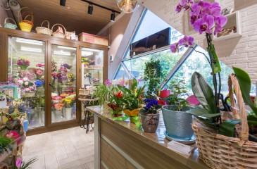 Цветочный магазин в центре Красноярска